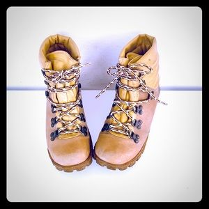 70s Lace Up Ankle Boots Leather Hiking Boots 7